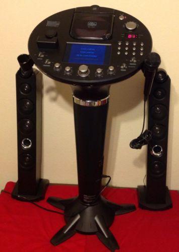 Singing Machine Bluetooth Pedestal Karaoke System Portable Home Entertainment