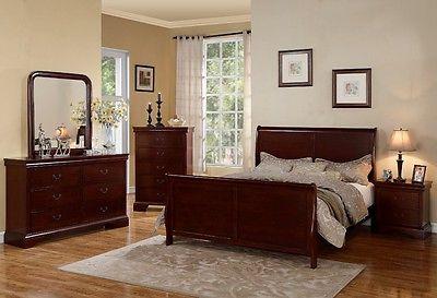 Poundex F9231CK F4735 F4736 F4737 California King Bed Nightstand Dresser Mirror