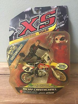 2007 Ricky Carmichael RM 250 Motocross Rider and Bike Toy XS Supercross