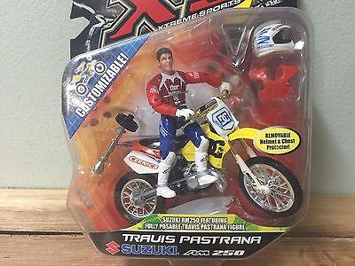 XS MXS Travis Pastrana Suzuki RM250 Diecast Parts Bike and Rider 2007