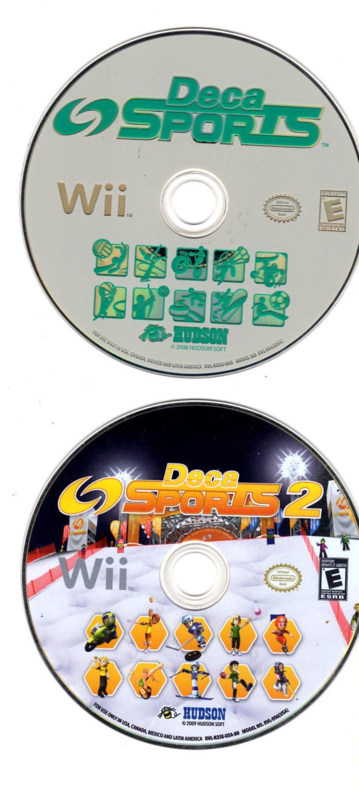 Deca Sports + Deca Sports 2 Nintendo Wii Games Discs Only Work PRO VERIFIED