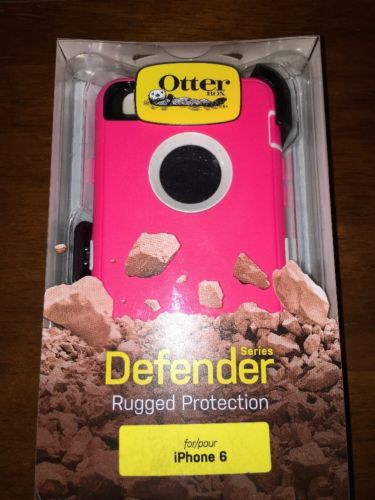 OtterBox Defender Case iPhone 6 6s New Retail Pink / White