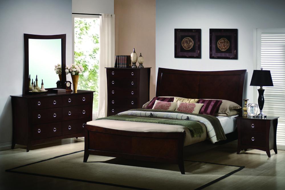 Poundex F9172CK F4531 F4532 F4533 California King Bed Nightstand Dresser Mirror