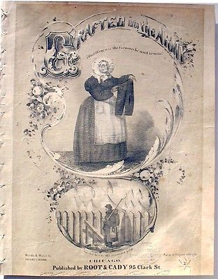 SHEET MUSIC - CIVIL WAR - GRAFTED INTO THE ARMY. 1862