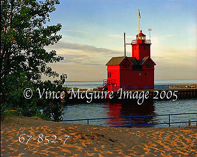 Lighthouse at Holland Habor MI Fine Art Print( Big Red )