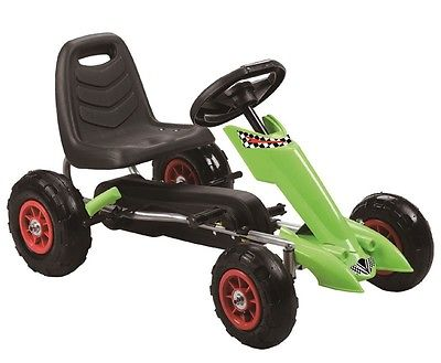 Zoom Pedal Go-Kart w/ Pneumatic Tire - Green