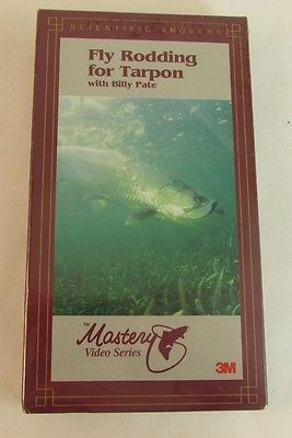 Fly Rodding For Tarpon VHS Tape New Bill Pate Master Video Series Fly Fishing