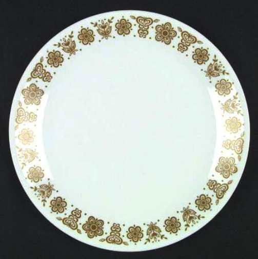 Corelle - Butterfly Gold Pattern - Larger Dishes, Large Bowl, Cups
