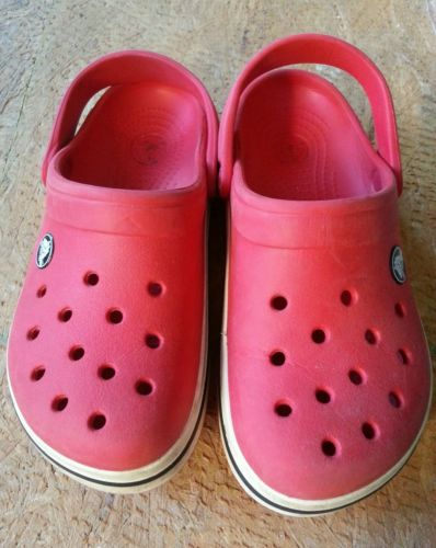 Crocs Toddlers Red Unisex Clogs -Sz 12/13