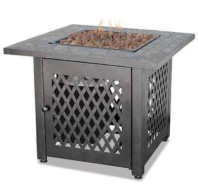 New Fire Pit Outdoor Fireplace Propane Backyard Patio Table Deck Firepit Heater