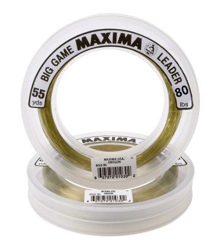 Maxima Fishing Line Big Game Leader Wheel, Ultragreen, 80-Pound/55-Yard