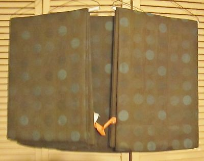 Set of 3 PIER 1 IMPORTS WINDOW PANELS 54 X 92 INCHES Blue & Bronze Colored Mixed
