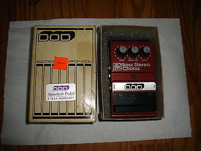 Vintage DOD FX 62 Bass Stereo chorus guitar effect pedal..L@@k