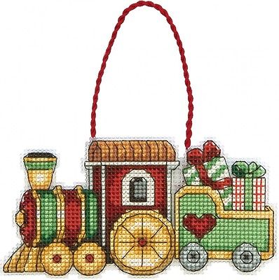 Dimensions Counted Cross Stitch, Train Ornament. Huge Saving