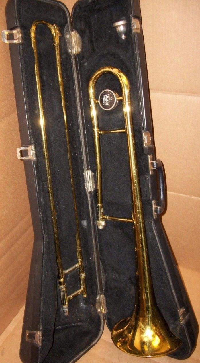 1987 King Tempo 606 Tenor Trombone with Original Case & Faxx 6-1/2AL Mouthpiece