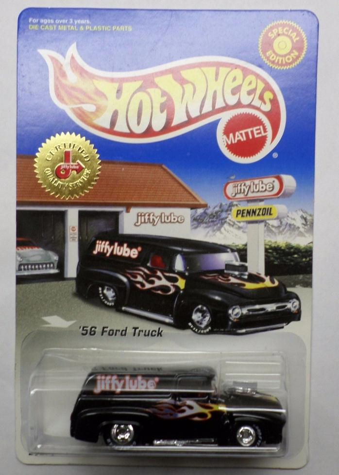 Hot Wheels Jiffy Lube '56 Ford Panel Truck Black w/Real Riders Limited Edition