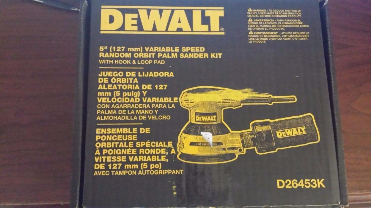 Dewalt D26453K Heavy-Duty 5'' VS Random Orbit Sander Kit BRAND NEW