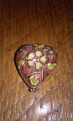 Jay Strongwater Trinket Heart Box Swarovski Crystals