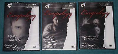 Magic DVD Lot - Dixie Dooley Escapology Set - Three (3) New Magic DVDs
