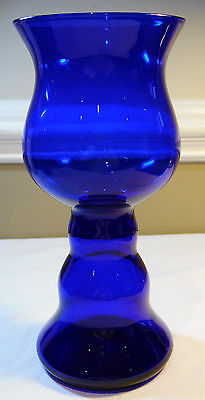 Cobalt Blue Decorative Goblet Style Vase Large Decorative Vase