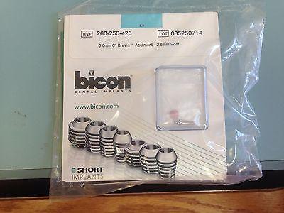 Bicon 6.0 mm 0 Degree Brevis Abutment 2.0 mm Post