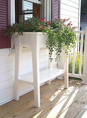 Garden Plant Pot Flower Planter Outdoor Home Yard Decor Standing White Patio Box