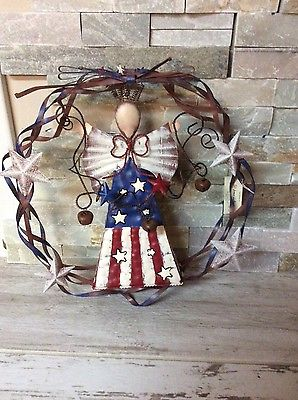 Homco home interiors Fourth of July Metal wreath for door decorations or window