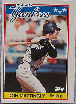 1988 AMERICAN BASEBALL DON MATTINGLY YANKEES Baseball Card