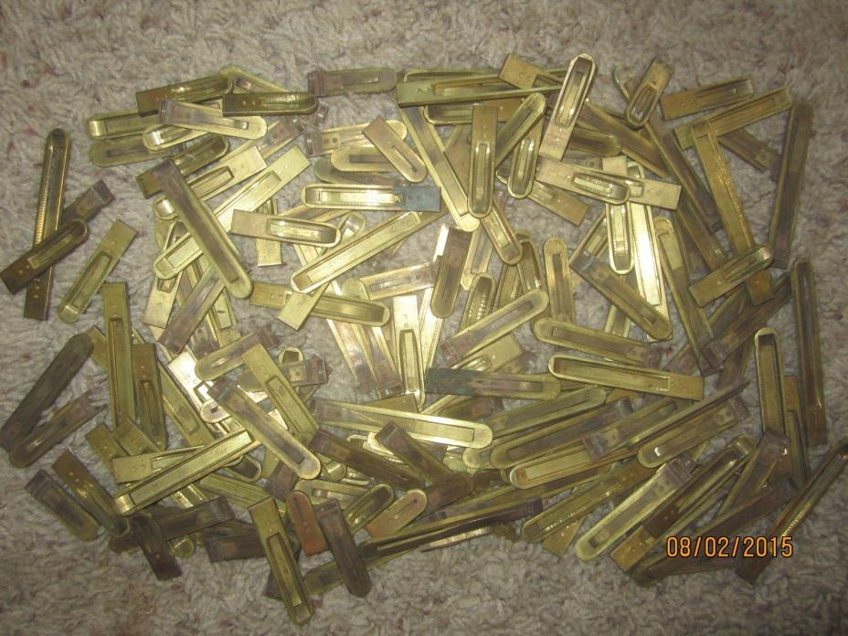 172 Antique Brass Pump Parlor Organ Reeds Victorian Replacement Parts Full Set