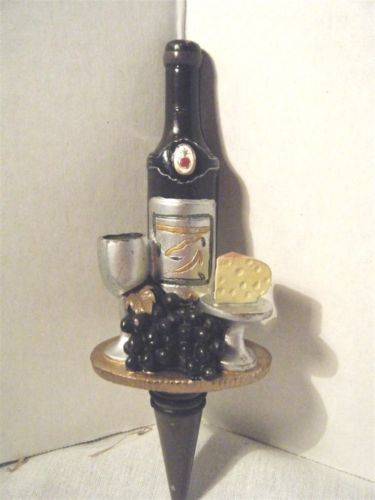 Wine Bottle Stop Figural Wine Bottle Cheese Grapes Goblet Bottle Stopper