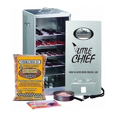 Electric BBQ Smoker Grill Barbecue Hickory Fish Poultry Pork Jerky Outdoor Meat