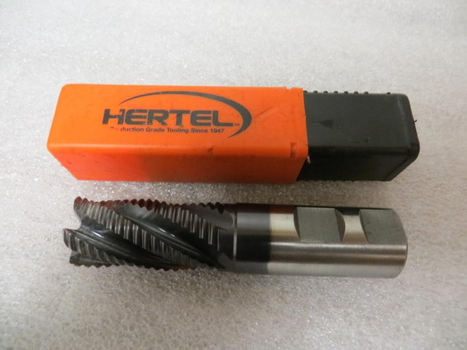 "Hertel 84511401 Cobalt Roughing End Mill 1""with 1"" Shank Single End Used"
