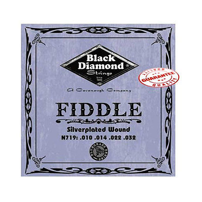 Black Diamond N719 Silverplated Fiddle Strings, Medium N719