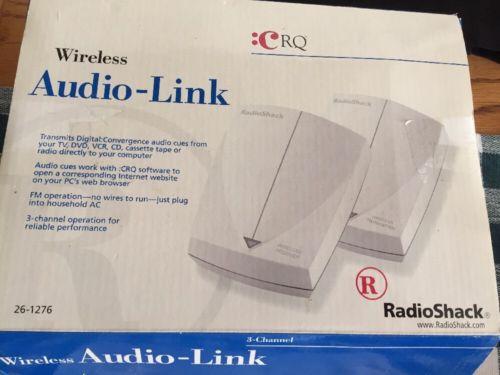 NEW IN BOX Radio Shack Wireless Audio Link 26-1276 Transmit TV DVD CD