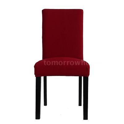 High Quality Soft Polyester Spandex Dining Room Chair Cover Slipcover Red R5U6