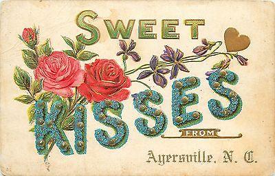 1911 postcard Ayersville North Carolina sent to Master Martin Guilford