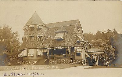 1909 photo Franklinville New Hampshire Sanborn Hall to Winchendon Dr. Thorning