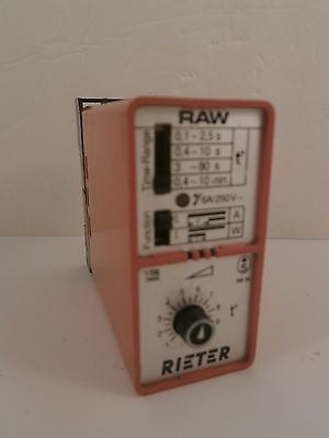 RIETER RELAY 6A/S50V WITH BASE VDE0435