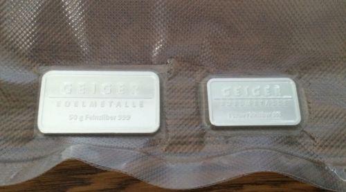 50 Gram And 1 Oz .999 Geiger Bars