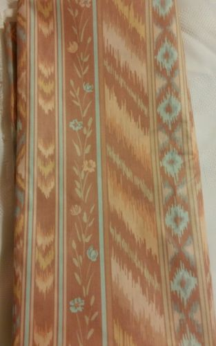 Vintage 1984  Fabrics & Draperies PreShrunk Floral Fabric 1.5 x 59