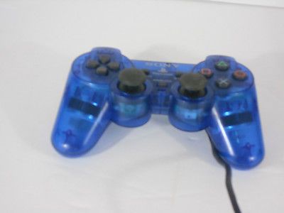PLAYSTATION 2 CONTROLLER SCPH10810 CLEAR BLUE