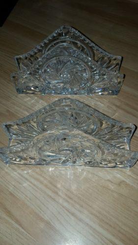 Cut Glass Napkin Holder,  beautiful design