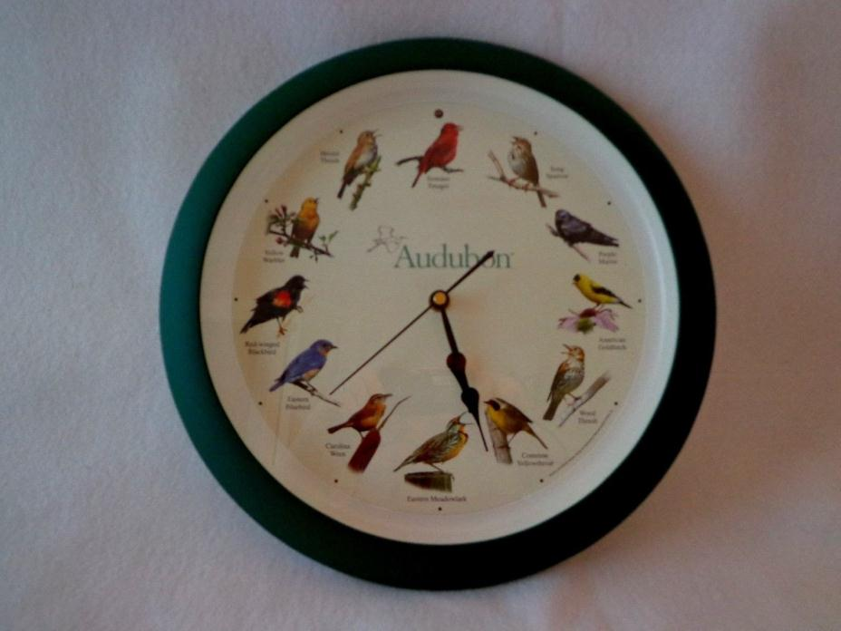 SINGING BIRD CLOCK WITH 12 DIFFERENT BIRD SOUNDS - NO NUMERICS ONLY BIRDS - 13