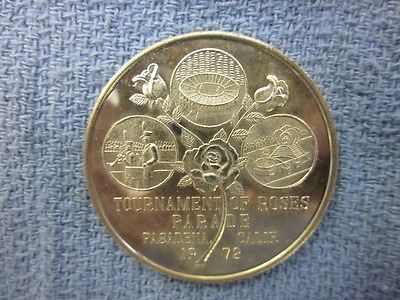 1972  57th Annual Rose Bowl Medal, Stanford vs. Michigan.... PROOF-LIKE SURFACE