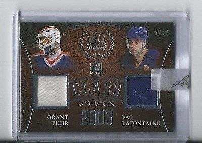2016 ITG Leaf Enshrined Class Of 2003 GRANT FUHR GLOVE / PAT LAFONTAINE /45!