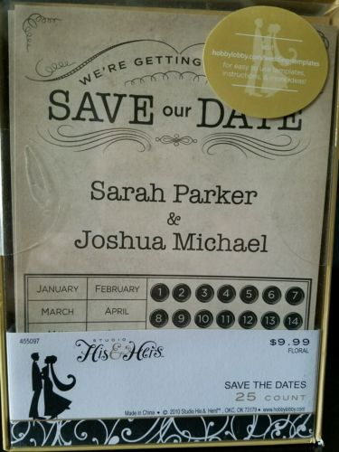 100 Count Wedding Save the Dates Brand New