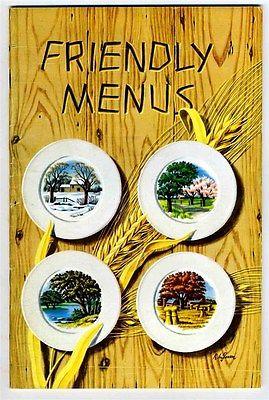 Friendly Menus Cookbook Ella Liner Lambert Wisconsin Brewers Association 1948