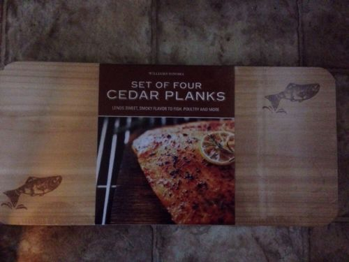 Williams Sonoma New Cedar Grilling Planks Package of 4~Salmon Poultry + More