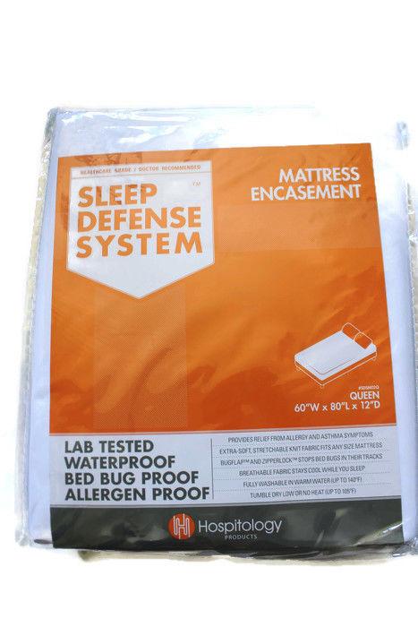 Hospitology Mattress Encasement Queen Sleep Defense System Bed Bug Proof