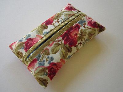 Pocket Tissue Holder with Roses